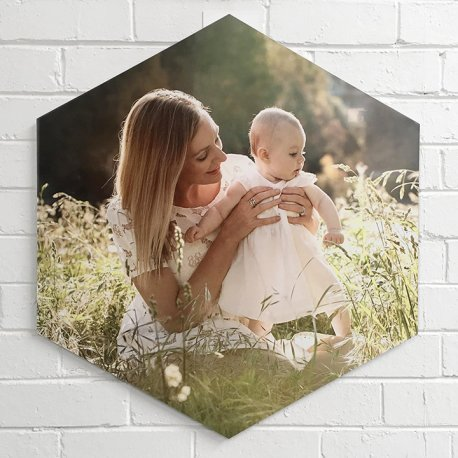 Mother and baby - example of metal wall art - printing on metal using aluminium sheets