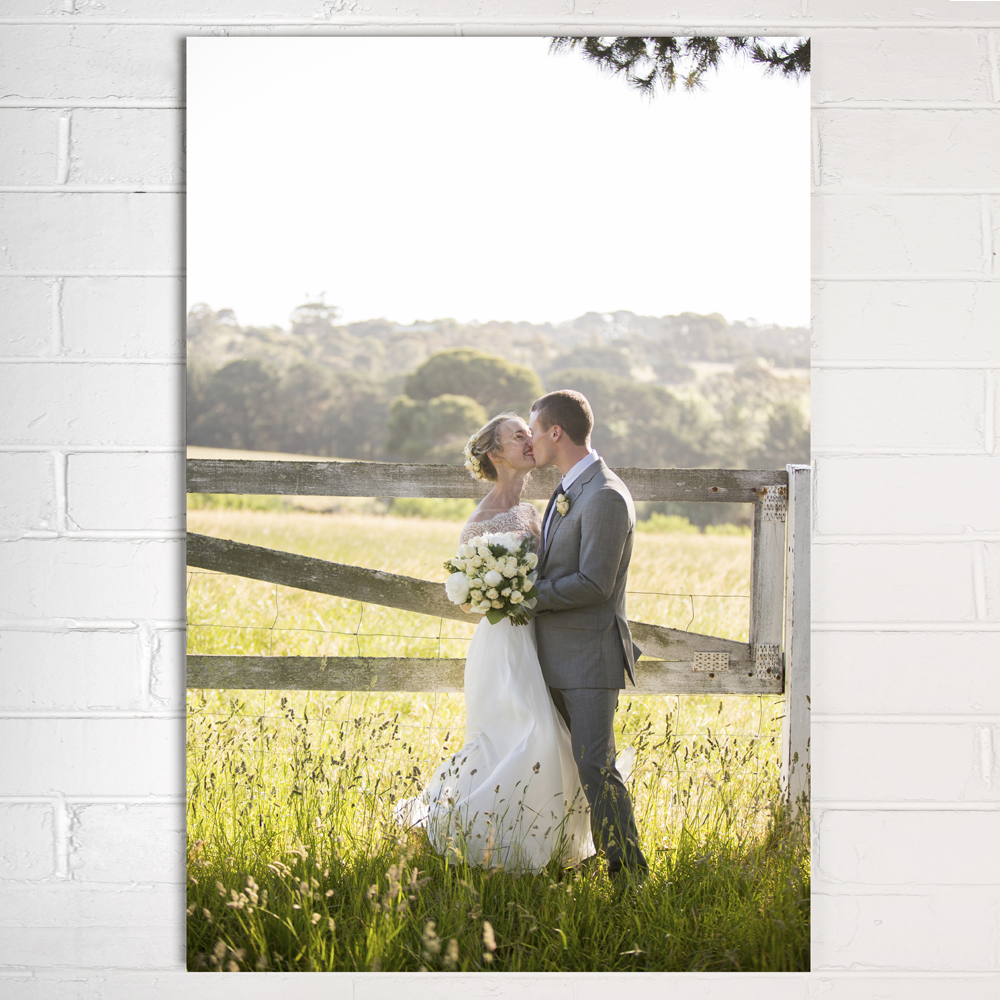 10 year anniversary gift idea - wedding photo printed on aluminium