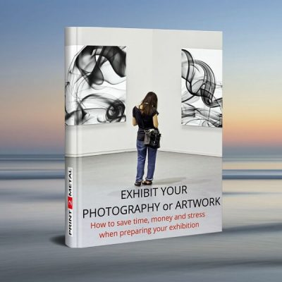 Book - 'how to exhibit your artwork and photos, and printing for exhibitions' concept