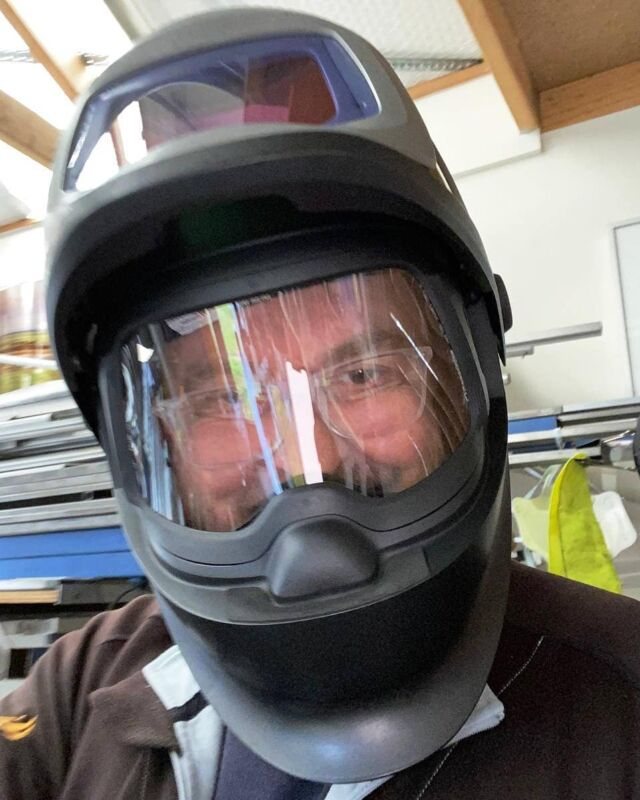 You may be thinking Frank is preparing for inter-galactic space travel by the looks of this charming selfie, but in actual fact he is busy in the workshop preparing to manufacture a new batch of floating hangers for customer orders.  Trusting us to print your precious memories, artwork and photography is truly an investment in quality that will last for generations. Not only are you supporting a locally owned and operated small business, but you are investing in a quality product that is the culmination of recognised industry craftsmanship, acute attention to detail and complete in-house manufacturing from the printed metal itself to the welded hanger on the back!  •  •  •  •#print2metal #metalprints #australianphotographer #printartwork #chromaluxe #affordableart #wallart #interiordecor #findaphotographeraustralia #thebrownbilleffect #photolab #melbourneprinter #photoexhibition #printonmetal #realchromaluxe #fineartprinter #hdmetalprints #awardwinningprinter